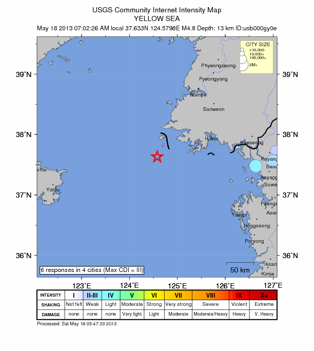 Yellow Sea Quake