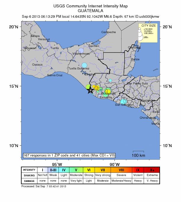 6.6 magnitude quake strikes Guatemala: planet reeling from series of powerful earthquakes Guatemala-9-6