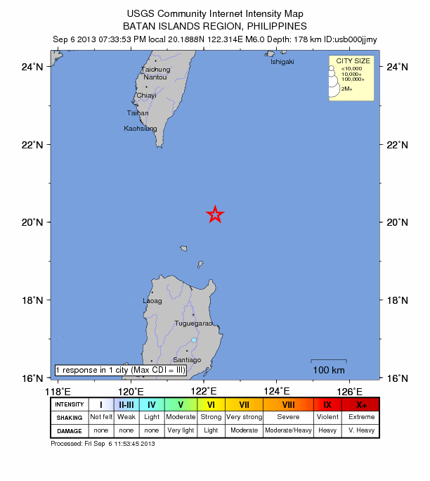 6.0 magnitude earthquake strikes off coast of northern Philippines Philippines-9-6