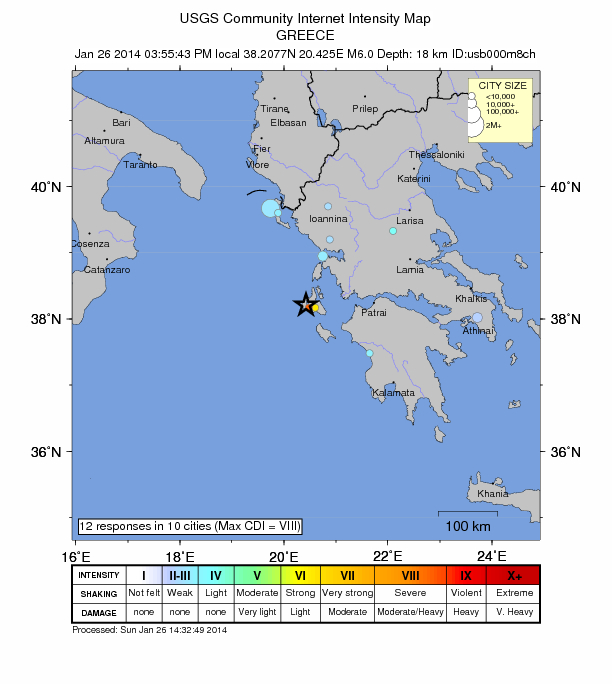 State of emergency declared after 6.1 magnitude earthquake strikes Greek Island Greece-jan-26-2014