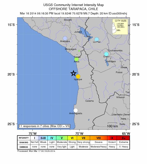 Chile March 16 6.7