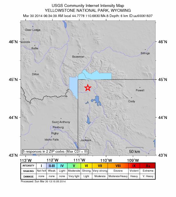Yellowstone 4.8 March 30
