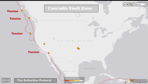 Cascadia Fault Subduction Zone TEP