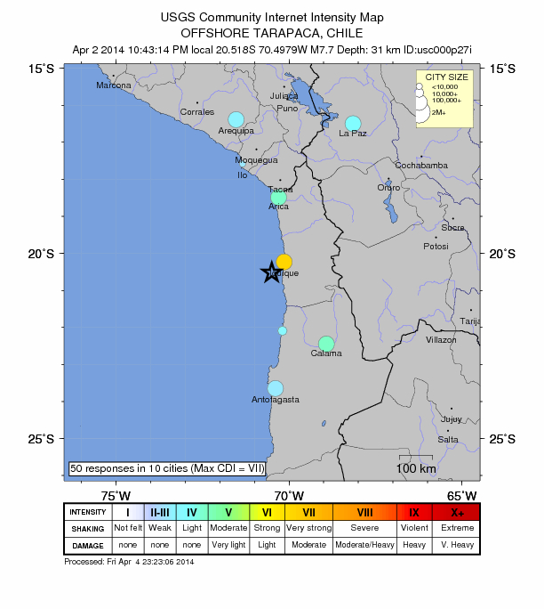 7.7 magnitude earthquake strikes Chile | The Extinction Protocolearthquake strikes chile