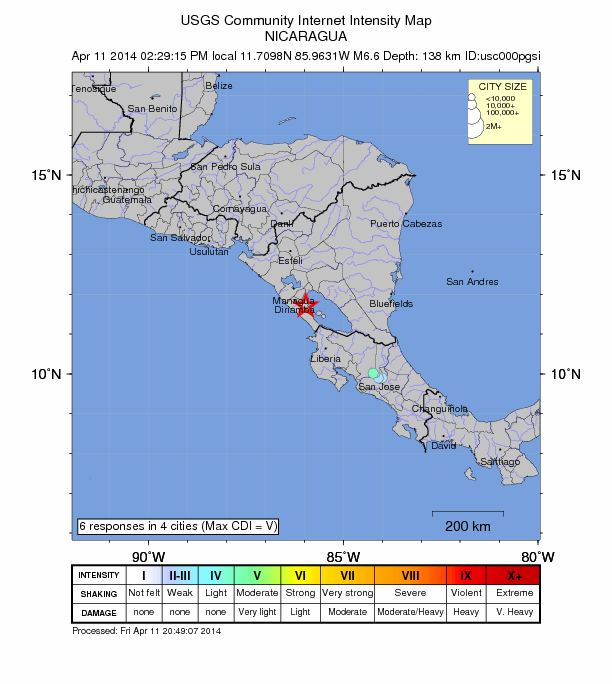 Nicaragua rattled by 2 large earthquakes in less than 24 hours Nicarauga-11-6-6-mag