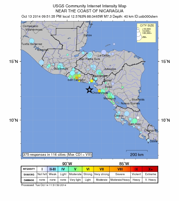 7.4 El Salvador ofshore October 13, 2014