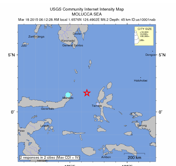 Strong undersea earthquake hits Eastern Indonesia Equake-6-2-march-2015
