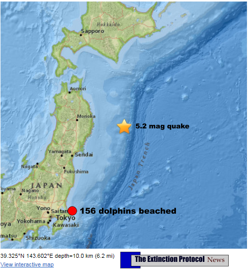 Shallow 5.2 magnitude earthquake strikes off Northeast coast of Japan Japan-quake