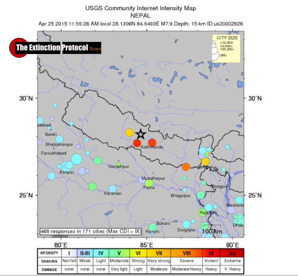 Nepal: 7.9 earthquake, felt in India, rocks Nepal killing at over 750 Nepal-quake