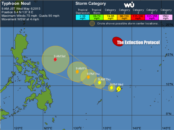 Typhoon Noul (Dodong) impacting Yap, storm could threaten Philippines Typhoon-noul