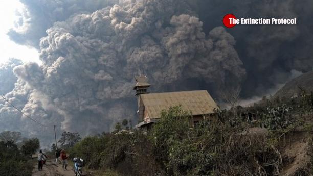 A Sinabung Volcano