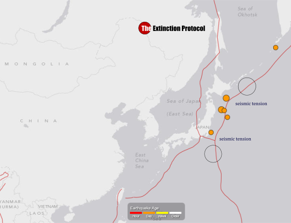 Tension builds: five more earthquakes strike off the coast of Japan in one day Japan-seismic-tension-june-10-2015