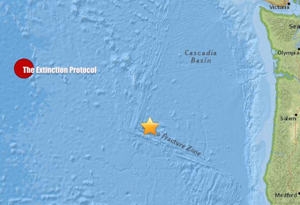 Strong M5.8 Earthquake Off the coast of Oregon  Oregon-quakes