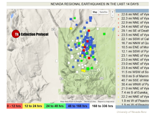 Nevada Quake Swarm