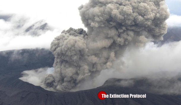 Aso eruption
