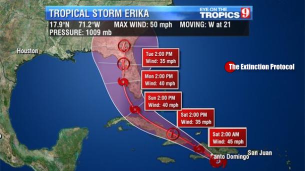 Tropical Storm Erika leaves 20 dead, as it plows through the Caribbean Erika