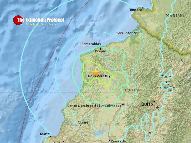 Ecuadoreans panic as strong 6.7 magnitude earthquake strikes devastated coast Ecuador-eq