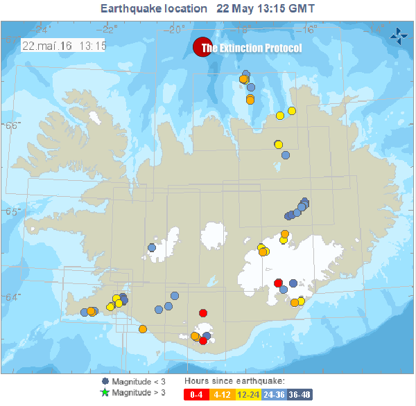 Iceland Seismicity May 22