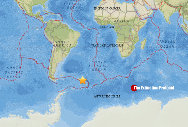 7.3 magnitude earthquake strikes southeast Atlantic 7