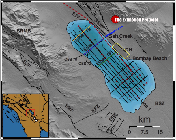 A second fault line running parallel to San Andreas has just been identified San-andreas-map