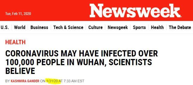 Newseek Infections Wuhan