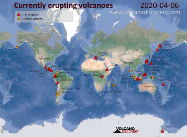 000 Volcanoes Erupting